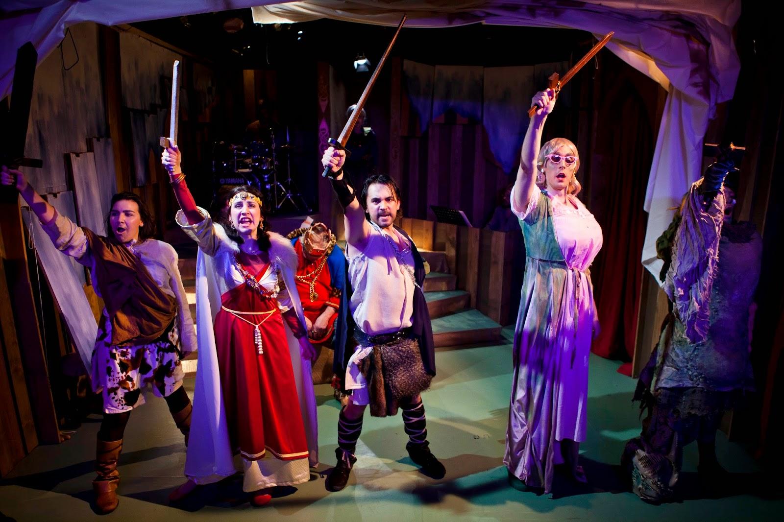 Beowulf - Charles Court Opera in 2011 - Amy J Payne (Wiglaf),Catrine Kirkman (Princess Hrothmund), Simon Masterton-Smith (King Hrothgar), Kevin Kyle (Beowulf), John Savournin (Grendel's Mother) Philip Lee (Grendel),  Photographer: Richard Davenport