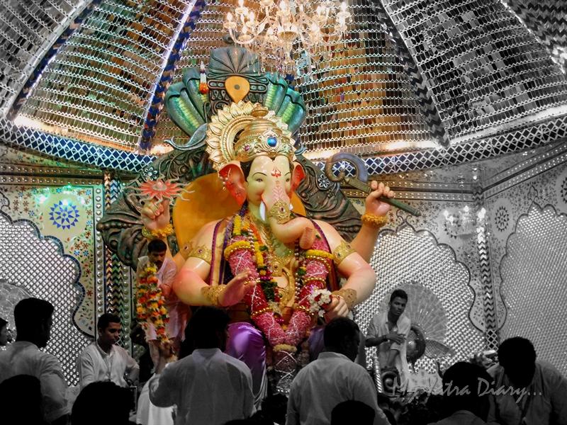Bappa at Lalbaugcha raja Pandal, Ganesh Pandal Hopping, Mumbai
