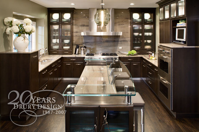 Tina Muller From Drury Kitchen Design ?designed This Beautiful Sleek Dark  Wood Kitchen..check Out That Glass Island Topu2026so Different.