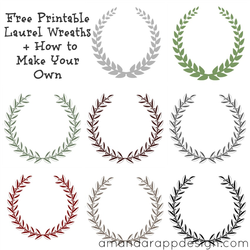 Free Printable Laurel Wreath, free printable laurel wreaths, laurel ...