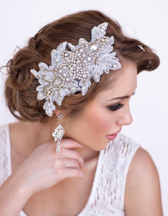 Marissa Bridal Lace Headpiece - www.perlejewellerymakeup.com.au