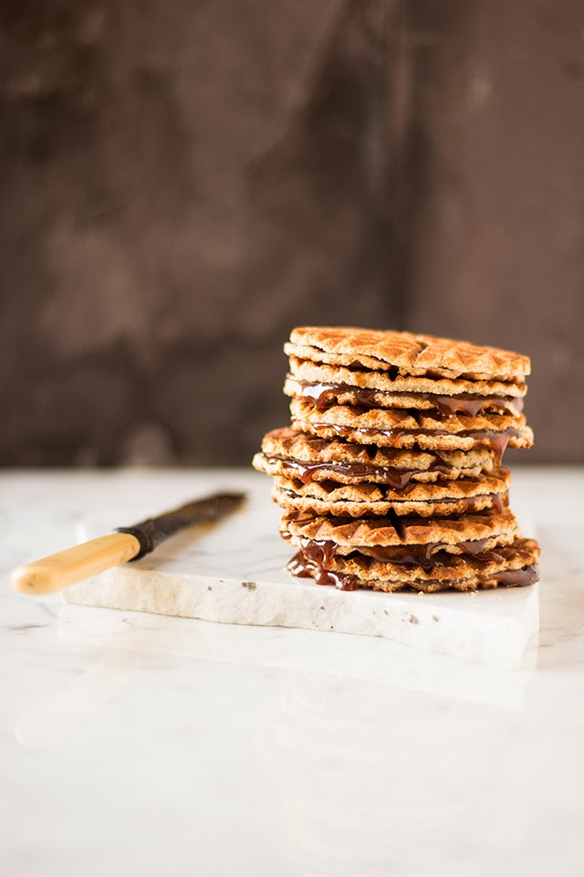 Beautiful photography of pizzelle iron at work here