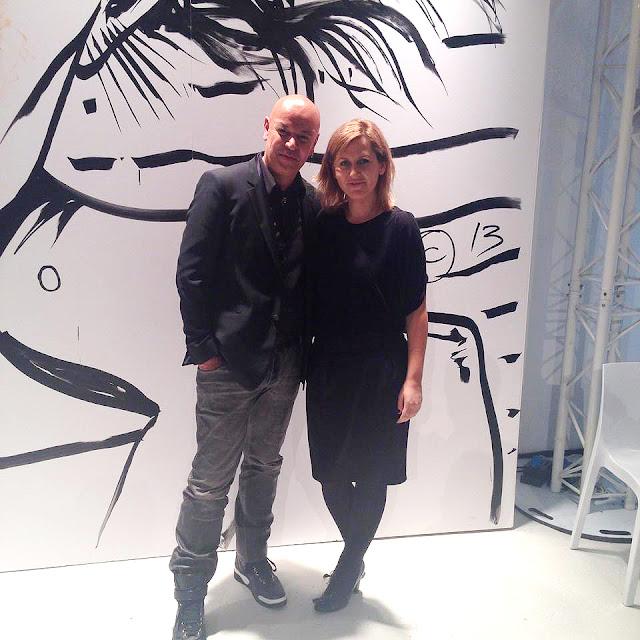 Алена Пономаренко и арт-директор по макияжу Givenchy, Николя Деженн