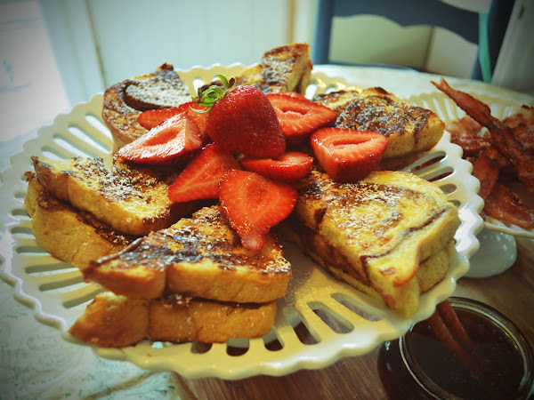 Best Ever ULTIMATE Stuffed French Toast with Cinnamon Infused Vanilla Maple Syrup