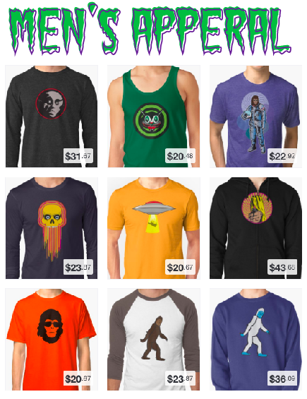 Tee-Shirts, Hoodies, Baseball Jersey's and More!
