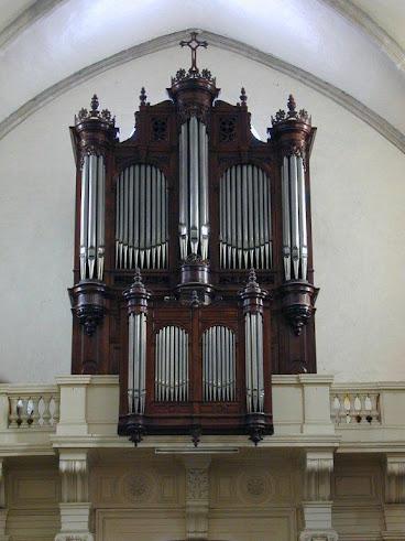 L'orgue de l'église N Dame du lac à Lunel