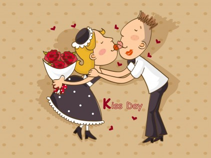 Happy Kiss Day Scrap For Facebook