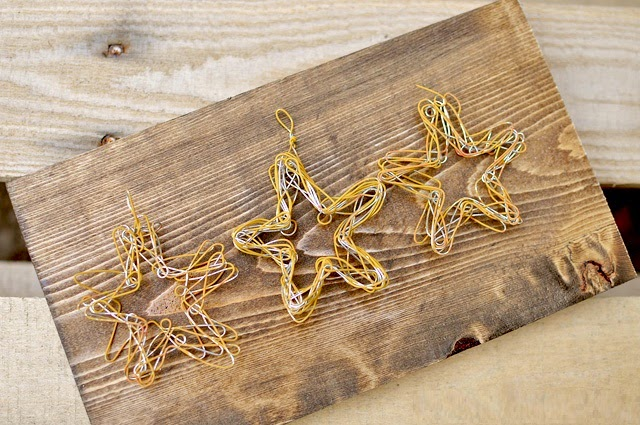 DIY, Estrellas de Navidad con Alambre de Cobre