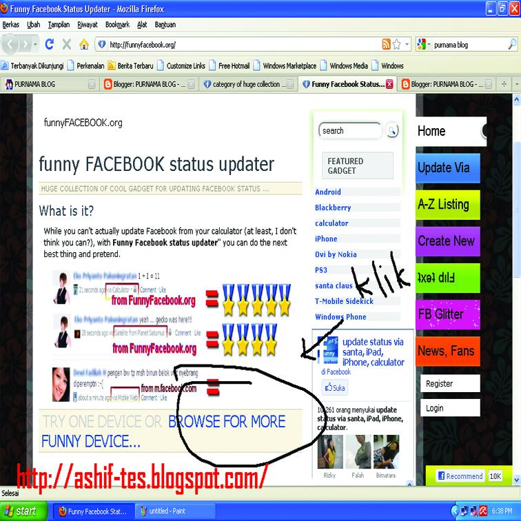 Create an account or log into facebook