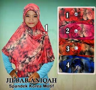 Grosir jilbab spandek korea motif simple, modis dan murah