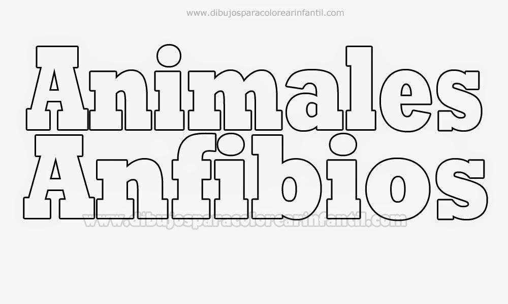 Animales Anfibios para colorear - Laminas para colorear ~ Dibujos ...