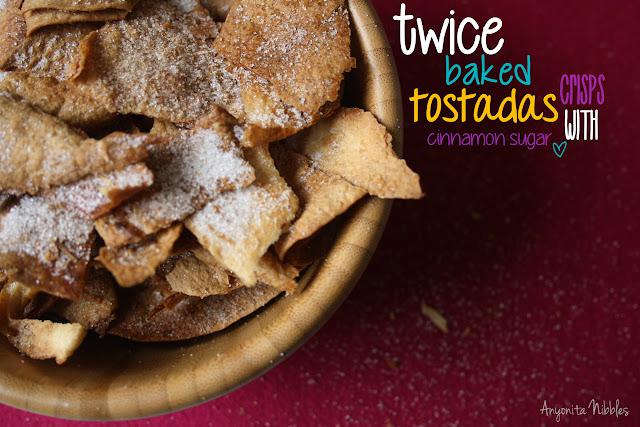Anyonita Nibbles Twice Baked Tostada Crisps with Cinnamon Sugar