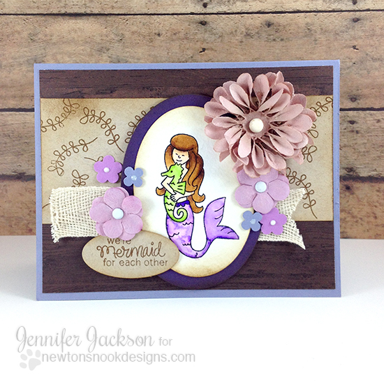Cupcake Inspirations Challenge Sponsor! Mermaid Crossing Stamp set by Newton's Nook Designs