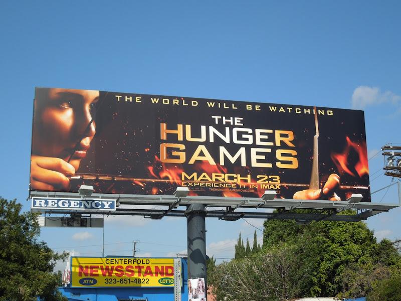 The Hunger Games film billboard