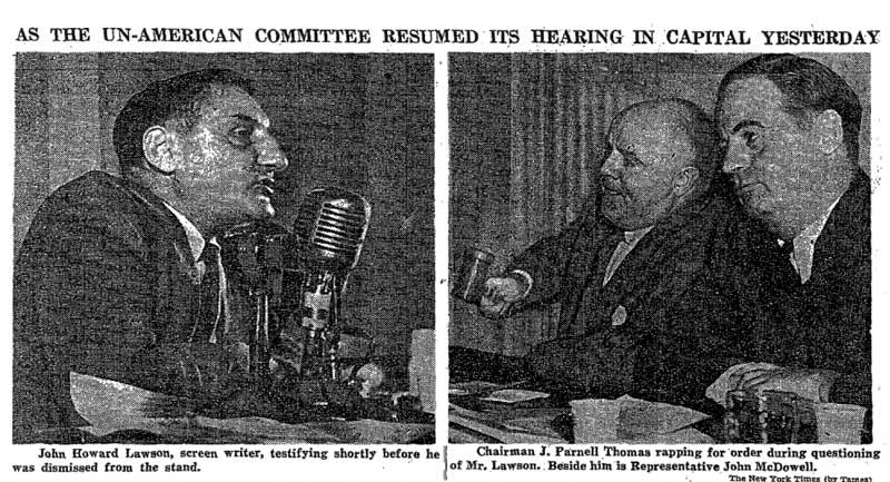 John Howard Lawson, HUAC Hearing