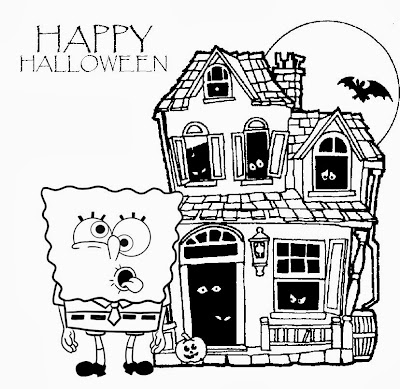 7 New Spongebob Halloween Coloring Pages For Kids