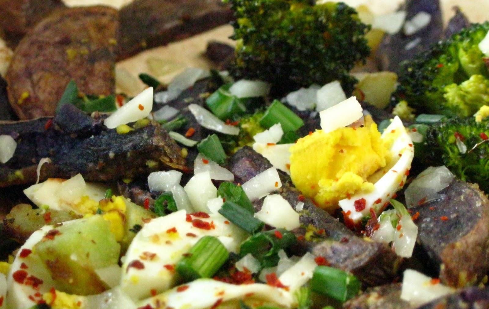 Hungry Basket: Broccoli and Purple Potato Salad