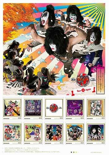 KISS 40th Anniversary メモリアルフレーム切手セット with ももいろクローバーZ02