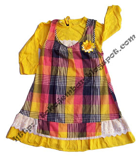 Dress Anak Kotak Flower