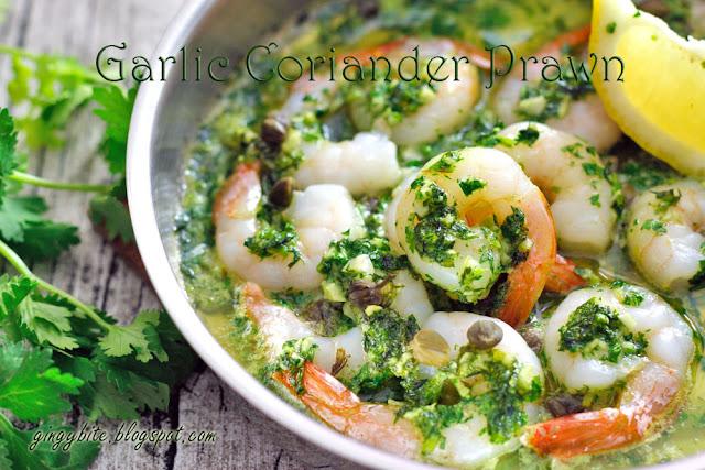 Garlic Coriander Prawn 蒜茸香菜虾