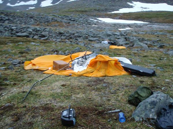 The Arctic Oven tent after collapse. & Fisheries and Aquatics Program: A ROUGH TRIP THROUGH THE MOUNTAINS ...