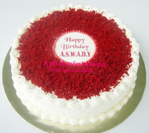 Red Velvet Cake Edible Image Ai-sha Puchong Jaya