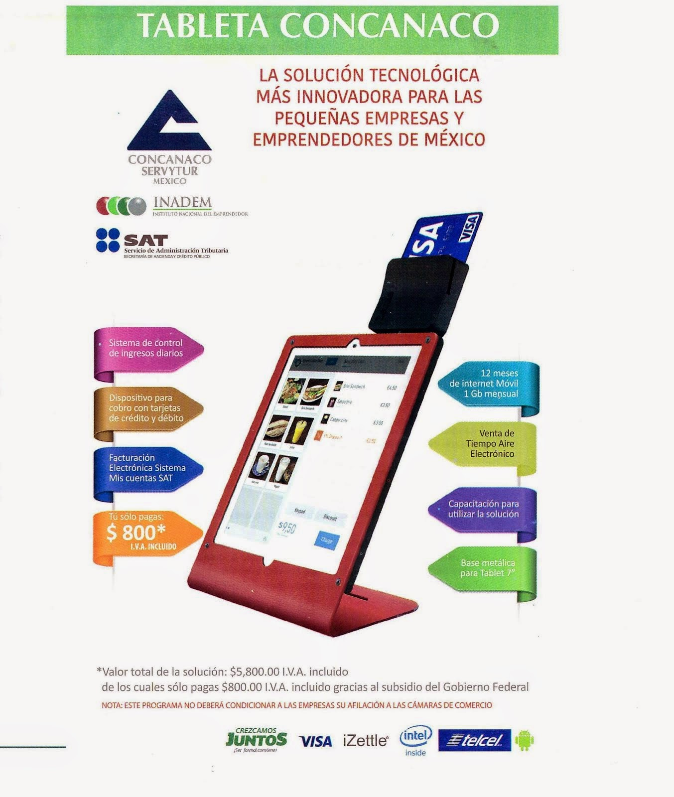 TABLET Y DISPOSITIVO PARA TU NEGOCIO