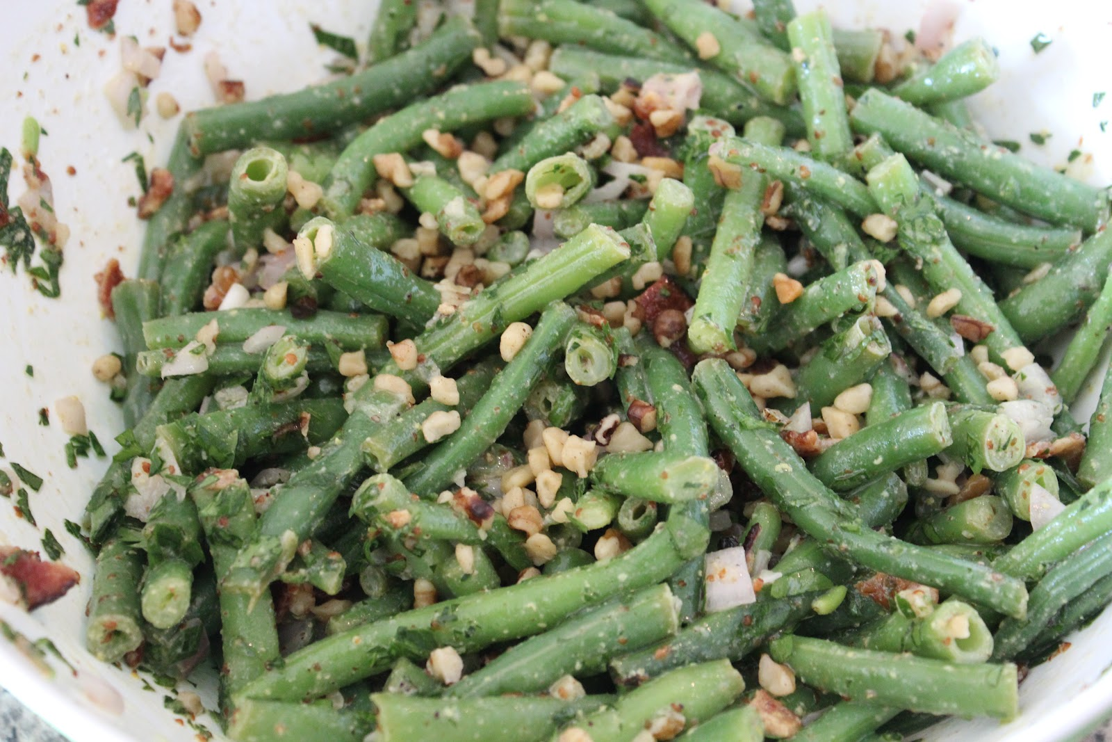 how to prepare fresh green beans with bacon