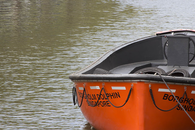 orange dinghy