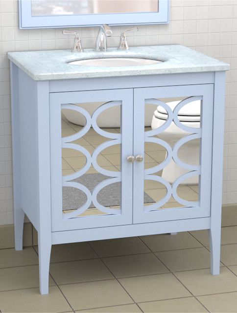 To da loos lusting for mirrored vanities part 2 for Bathroom consoles and vanities