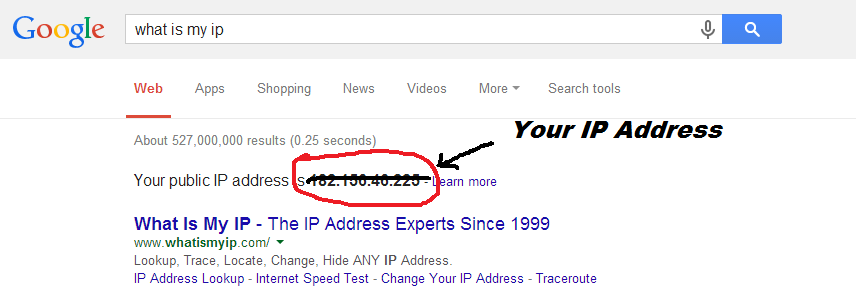 how to know my home network ip address