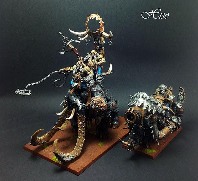 Warhammer - Ogres - Megastodonte Boutte fer