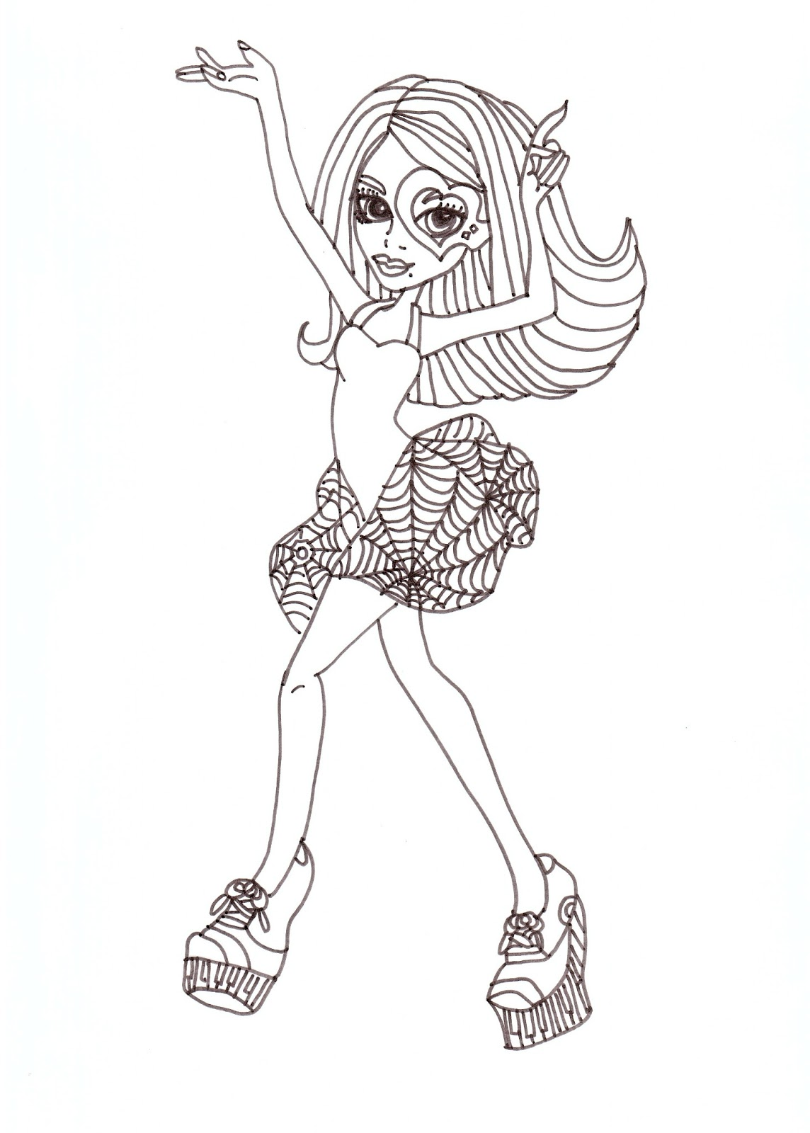 Free printable monster high coloring pages operetta dance for Operetta monster high coloring pages