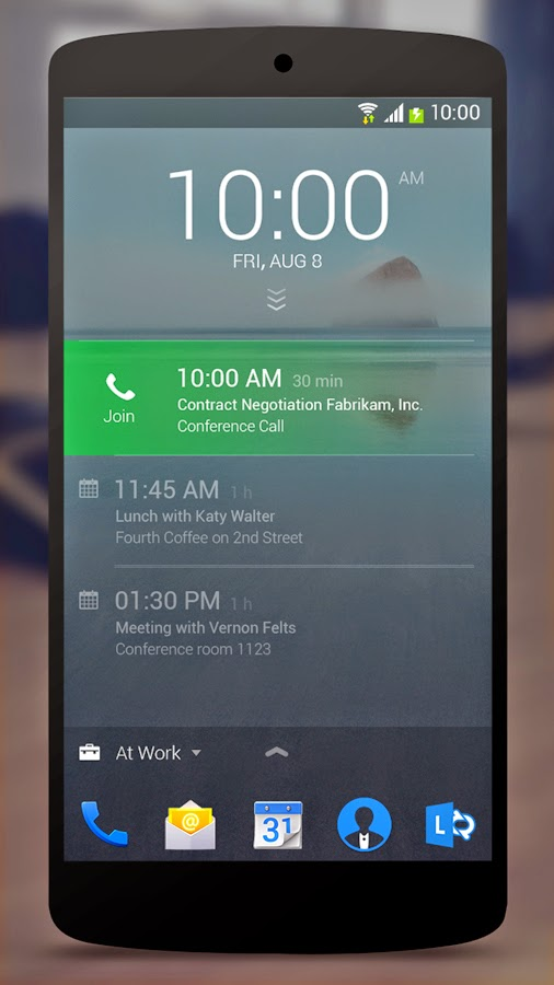 Microsoft's Next Lock Screen for Android