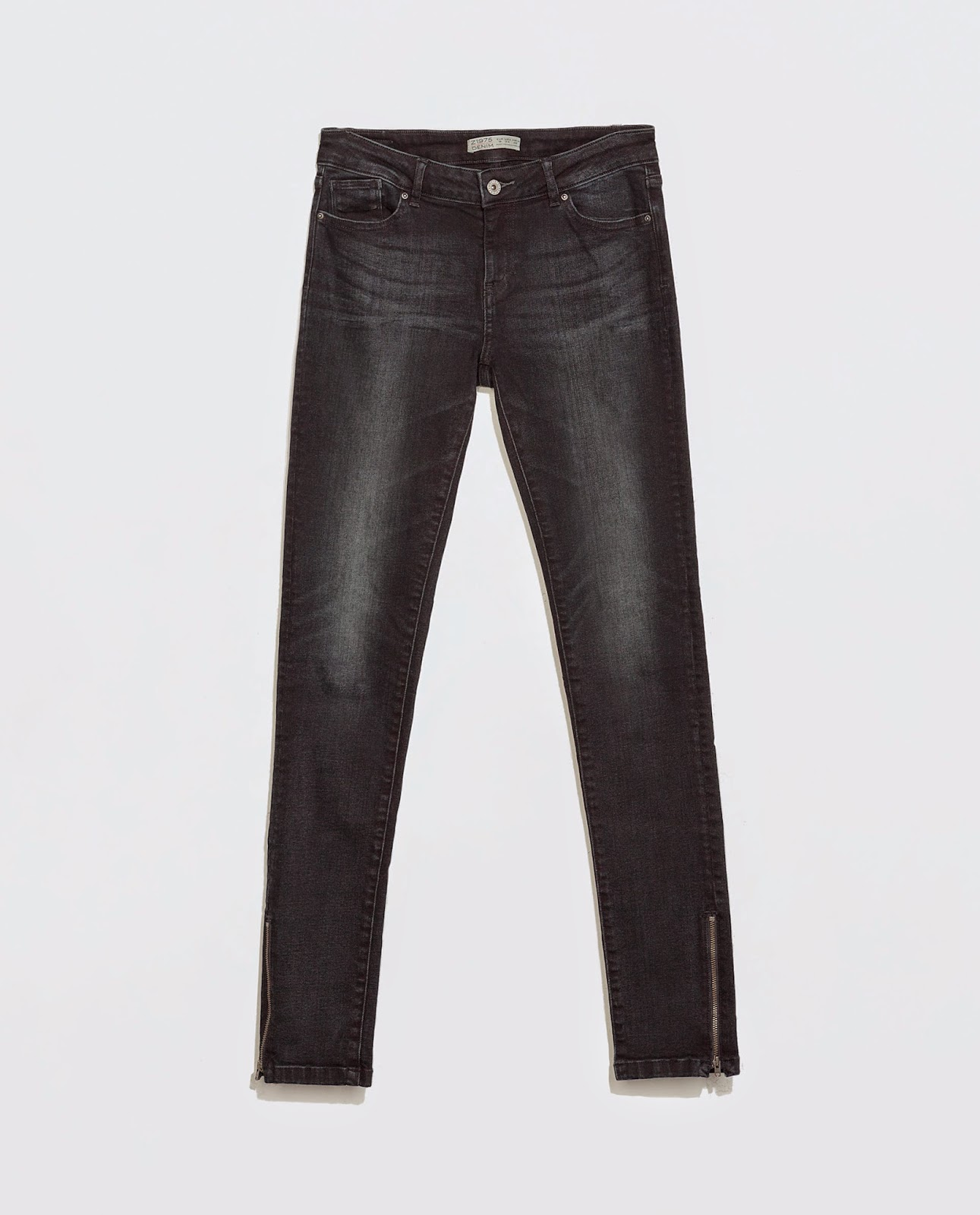 zara mid rise jeans with zips