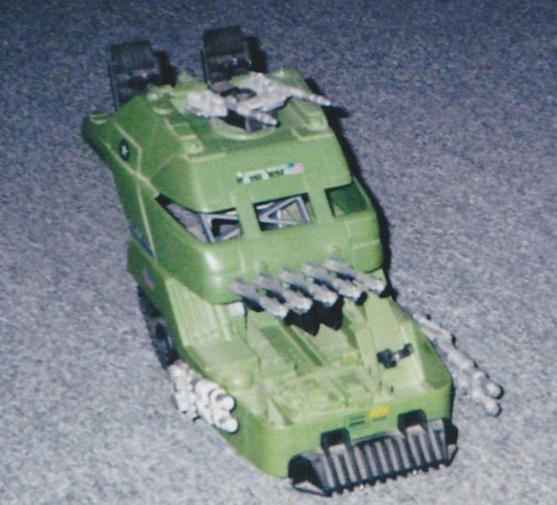 GI Joe Vehicle Mobile Battle Bunker Tank Tread A 1990 Original Part