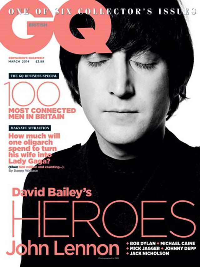 John Lennon para GQ Magazine marzo 2014