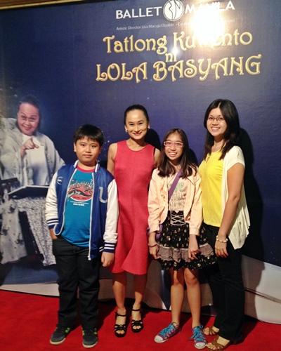 lisa macuja, ballet manila, tatlong kwento ni lola basyang, aliw theater