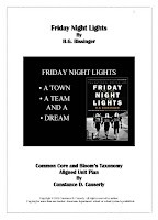 Friday Night Lights H.G. Bissinger - Unit Plan