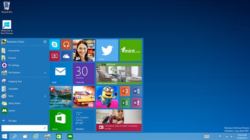 Download Windows 10 Technical Preview ISO 32 Bit 64 Bit