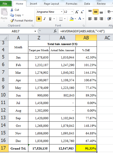 Compare percentage result between excel formula average and compare percentage result between excel formula average and averageif exclude 0 ccuart Choice Image