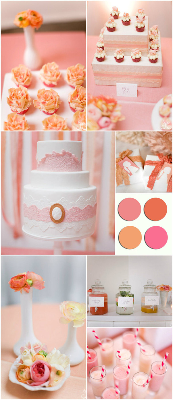 pink and coral wedding inspirations