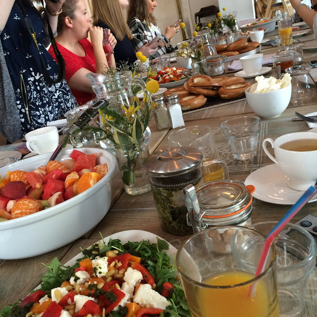 blogger brunch with get the label for the stayfitdontquit campaign