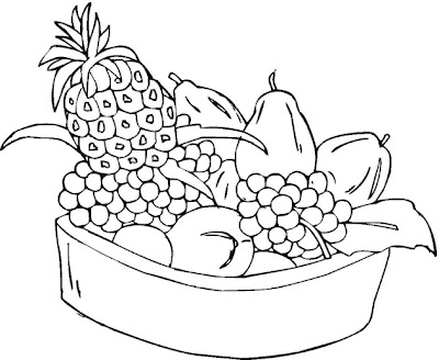 fruit basket coloring pages printable - photo#18