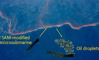 SAM-Modified Microsubmarines could clean oil