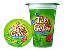 teh gelas green tea
