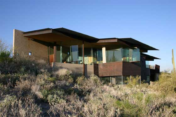 modern hill home designs modern desert homes