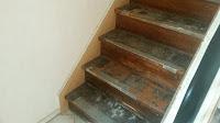 Treppenrenovierung - Treppenwangenverkleidung links und rechts 1