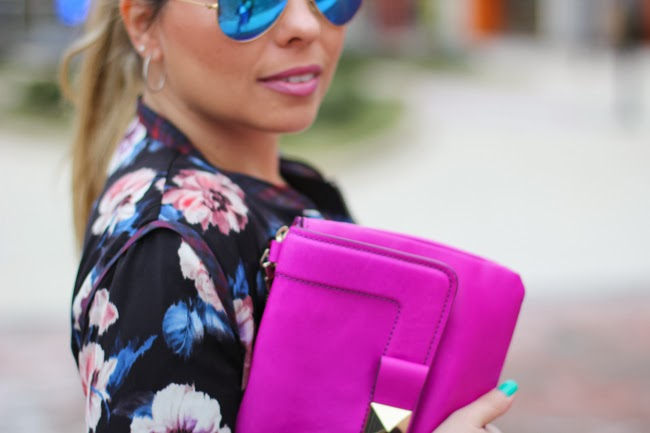Kate Spade Pink/Purple Clutch