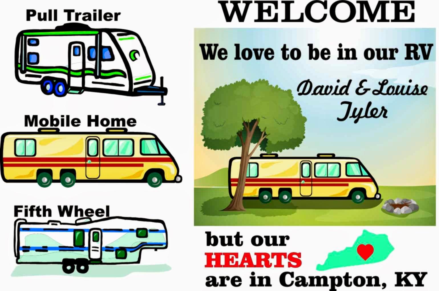personalized rv camper garden flag